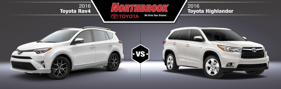 Rav4 Vs Highlander >> 2016 Toyota Rav4 Vs 2016 Toyota Highlander Comparison