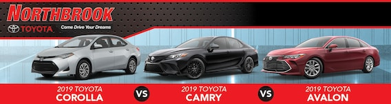 Corolla Vs Camry >> 2019 Toyota Sedans Corolla Vs Camry Vs Avalon Near Skokie Il