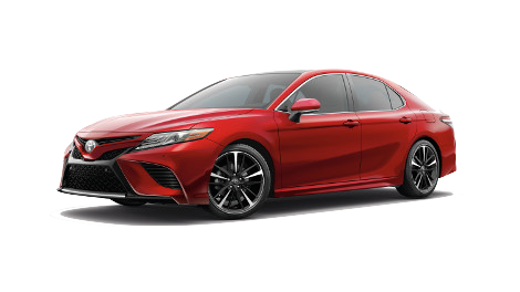 A red 2018 Toyota Camry