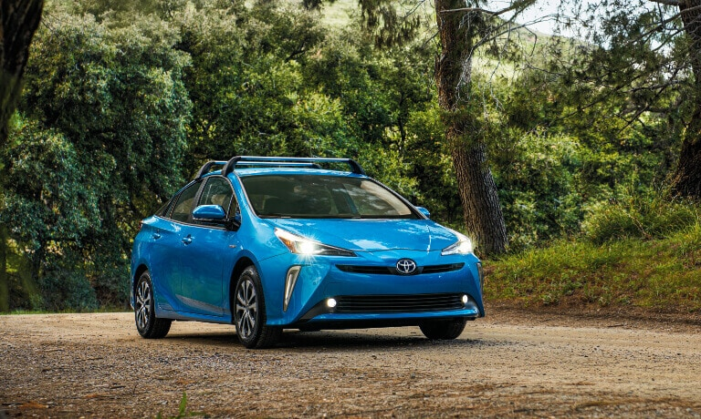 2020 Toyota Prius Driving through the forest