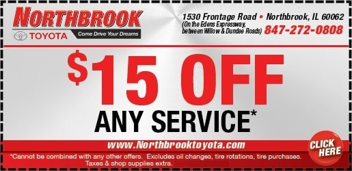 Toyota Oil Change Coupon >> Toyota Service Coupons Specials In Northbrook Il Northbrook Toyota