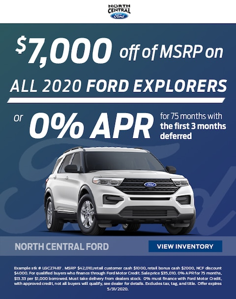 2020 Ford Explorer Purchase Specials