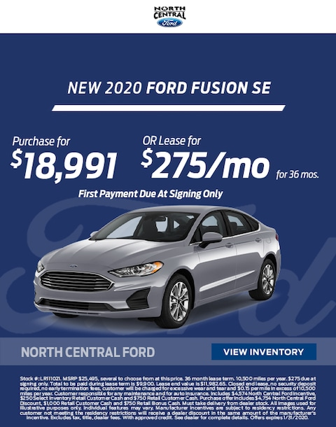 2020 Ford Fusion Purchase & Lease Special
