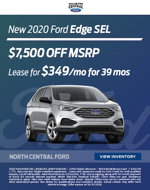 2020 Ford Edge Lease and Purchase Specials