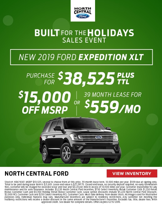 2019 Ford Expedition Purchase & Lease Special