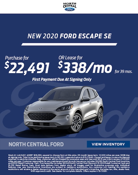 2020 Ford Escape Purchase & Lease Special