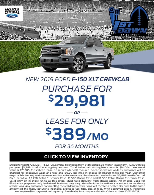 2019 Ford F-150 Purchase & Lease Special