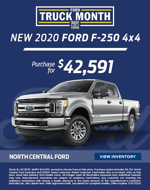 2020 Ford F-250 Purchase Specials