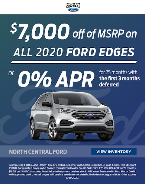 2020 Ford Edge Purchase Specials