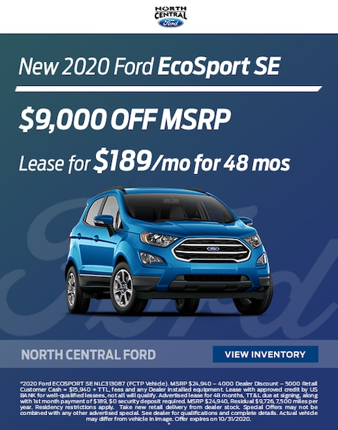2020 Ford Ecosport Purchase Specials