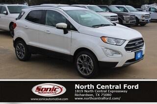 New 2019 Ford EcoSport Titanium SUV near Dallas