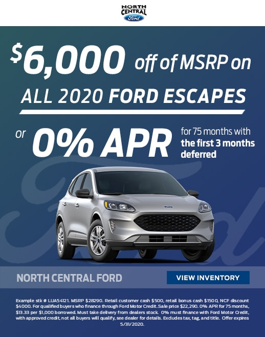 2020 Ford Escape Purchase Specials