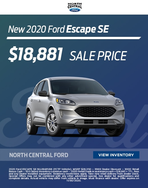 2020 Ford Escape Lease and Purchase Specials