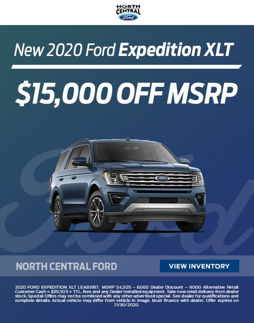 2020 Ford Expedition Lease and Purchase Specials
