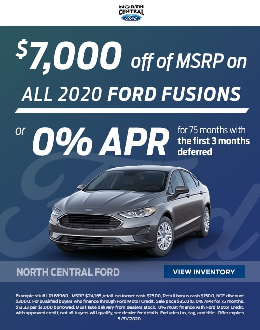 2020 Ford Fusion Purchase Specials