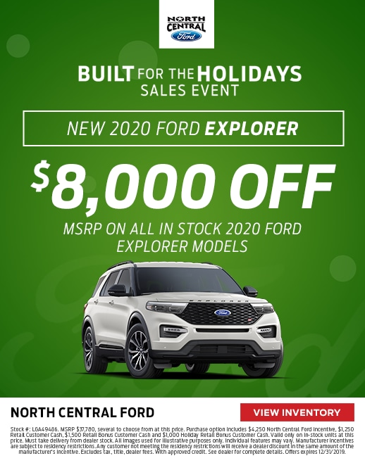 2020 Ford Explorer Purchase Special