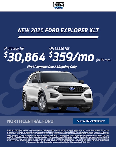 2020 Ford Explorer Purchase & Lease Special