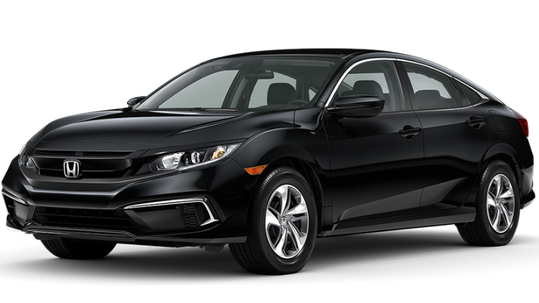2020 Honda Civic LX in black