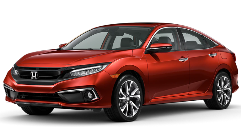 2020 Honda CIvic Touring in red