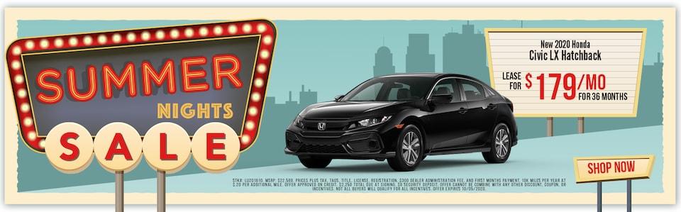 New 2020 Honda Civic Hatchback