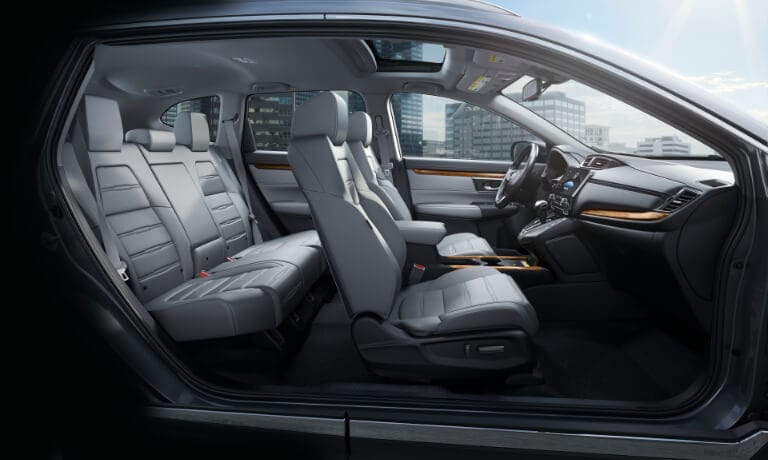 2020 Honda CR-V interior side view showing seating