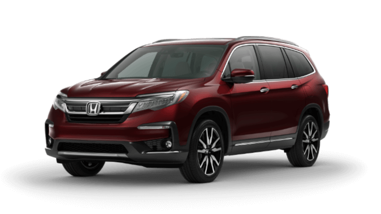 2020 honda Pilot Elite in red