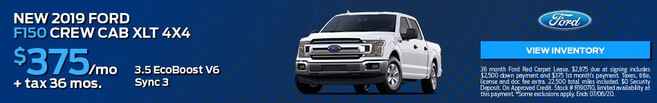 New 2019 Ford F150 Crew Cab XLT 4X4