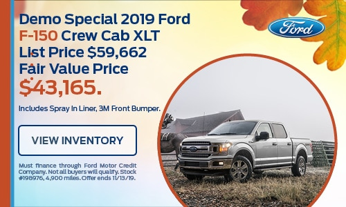 Demo Special 2019 Ford F-150 Crew Cab XLT