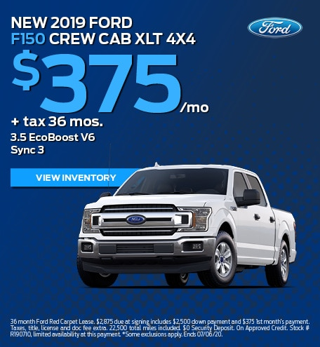 New 2019 Ford F150 Crew Cab XLT 4X4