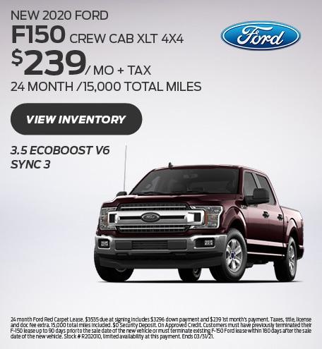 New 2020 Ford F150 CREW CAB XLT 4X4