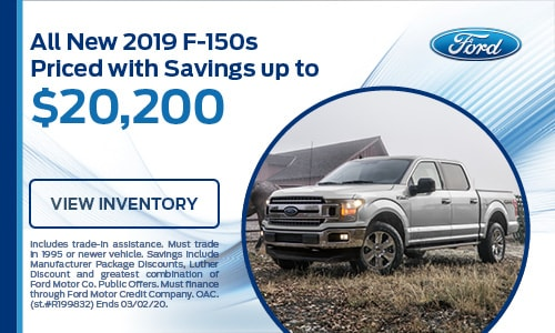 All New 2019 F-150s Priced with Savings up to $20,200