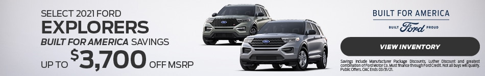 Select 2021 Ford Explorers