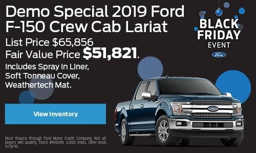 Demo Special 2019 F-150 Crew Cab Lariat