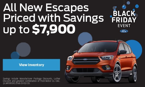 All New Escapes Priced with Savings