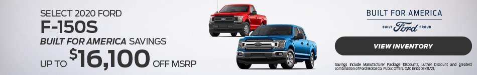Select 2020 Ford F-150s