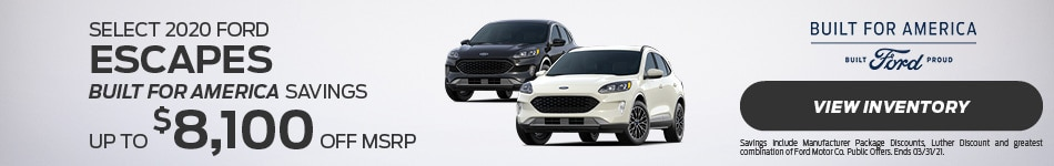 Select 2020 Ford Escapes