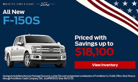 All New F-150s Priced with Savings up to $18,100