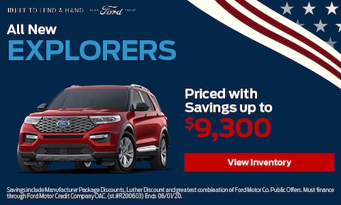 All New Explorers Priced with Savings up to $9,300