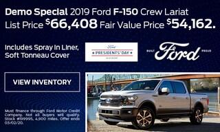 Demo Special 2019 Ford F-150 Crew Lariat