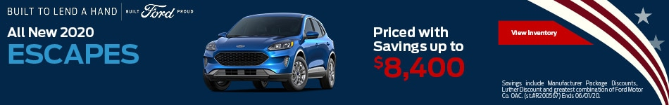 All New 2020 Escapes Priced with Savings up to $8,400