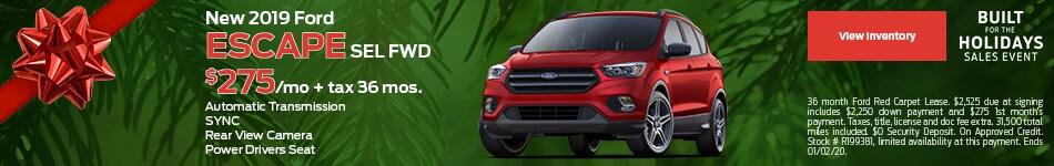New 2019 Ford Escape SEL FWD