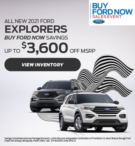 All New 2021 Ford Explorers