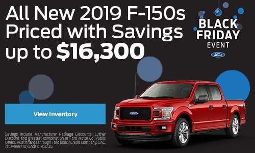 All New 2019 F-150s Priced with Savings