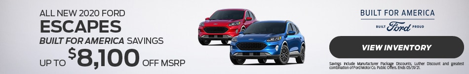 All New 2020 Ford Escapes