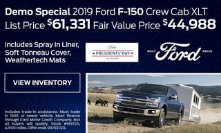 Demo Special 2019 Ford F-150 Crew Cab XLT