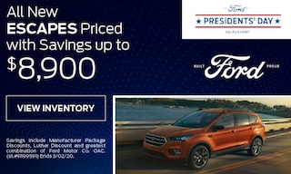All New Escapes Priced with Savings up to $8,900