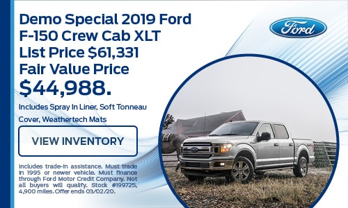 Demo 2019 Ford F-150 Crew Cab XLT