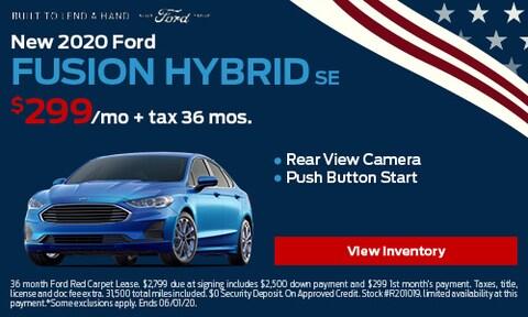 New 2020 Ford Fusion Hybrid SE