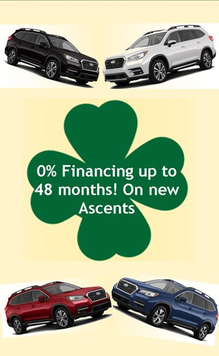 Now get 0% Financing on all new Ascents for up to 48 months!