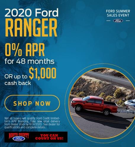 August 2020 Ford Ranger
